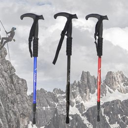 $enCountryForm.capitalKeyWord Australia - Trekking pole aluminum alloy outdoor sports straight handle T handle telescopic shock absorber wholesale factory direct one generation