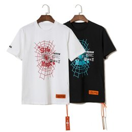 High Tops Shorts Australia - 19SS TOP Summer High Quality Heron Preston Spider web Letter printing Short Sleeve Men Women Fashion t shirt streetwear Cotton