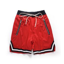 $enCountryForm.capitalKeyWord Australia - Basketball Short Pants Zipper Pocket Men Red Casual Streetwear Gym Workout Fitness Running Fashion Trendy Clothing Shorts