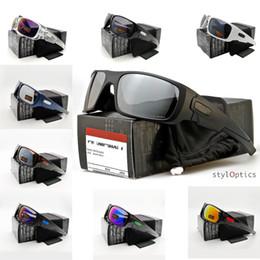 SunglaSSeS iridium online shopping - 2019 CRANK SHAFT Colors Popular O9239 Outdoor Sports Glasses CORANKSHAFT Sunglasses Black Frame Mirror Iridium Lens