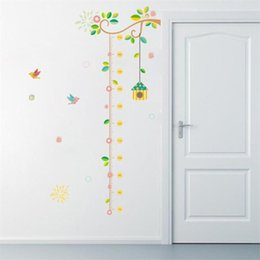 Wholesale Cartoon Kids Height Measure Sticker DIY Child Bedroom Wall Art Decal Wall Sticker For Rooms Decor Kids Height Ruler Stadiometer D19011702