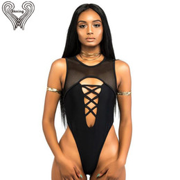 d7633f5da0e88 Thong One Piece Swimsuit Women Swimwear Mesh Bodysuit High Cut Monokini Swimming  Suit For Women Bathing Suit Beach Wear fused