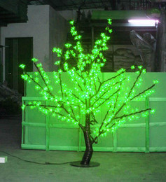 green candle bulbs UK - 1.5m Height LED Cherry Blossom Tree Light 480pcs LED Bulbs 110 220VAC Seven Colors for Option Rainproof Outdoor Usage free ship