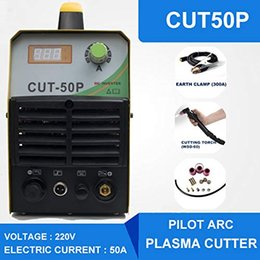 Plasma Arc Torch Australia - DC Non-Touch Plasma Cutter Pilot Arc Dual Voltage Inverter 110 220V 50AMP CUT50P with Cutting torch AG60 Grounding Clamp and Some Consumable