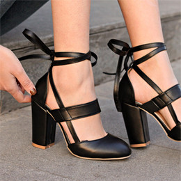 $enCountryForm.capitalKeyWord NZ - Designer Dress Shoes Women Pumps Fashion High Heels 2019 Platform Women Lace Up Woman Best Quality Thin Heels Black Pink