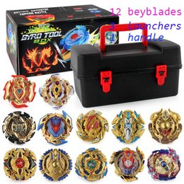 beyblades metal fusion toys NZ - Beyblade fidget spinner 12pcs box Beyblade burst Beyblades Metal Fusion Arena 4D bey blade Launcher Spinning Top Beyblade Toy For kids Toys