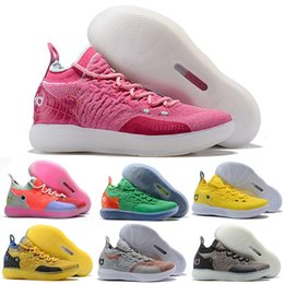 canvas kevin durant shoes Canada - Kd 11 Basketball Shoes Sneakers Men Women Yellow Still Emoji Twilight Pulse Kevin Durant 11s XI 2018 Trainers Basket Ball Sports Shoes