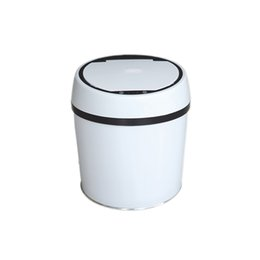 Steel Induction UK - 6L Automatic Trash Can Touchless Intelligent Induction Garbage Bin With Inner Bucket Contactless Circulator Quiet Lid Close Can White