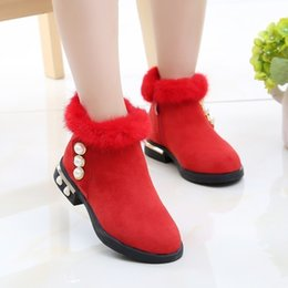 $enCountryForm.capitalKeyWord NZ - High quality DH32 Kids Princess Boots Synthetic Leather Girls Warm Shoes Children Students Party Pageant Shoes Girl Short Boots
