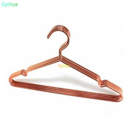 cheap clothes china NZ - China supplier customs Multipurpose dry cleaning brass Cheap bulk elegant rose gold clothes hanger wire copper coat hanger