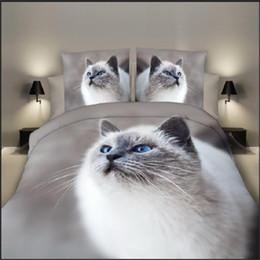 Discount 3d case tiger - BEST.WENSD High-grade bedding sets sheet pillow case duvet cover sets beds 3d Cats Tigers Flowers Butterflies housse de