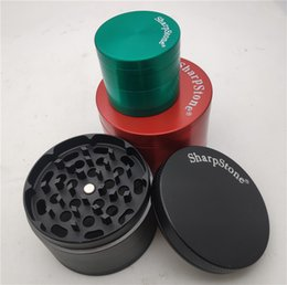 vs alloys UK - Big Size Sharpstone Grinders Metal Zinc Alloy Herb Grinders Tobacco Sharp Stone Grinders 4 Layers 40 50 55 63mm vs spacecase Dhl Free