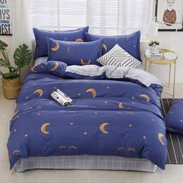 Discount browning baby bedding - Home Textile Stars and Moon Bedding Set Kids Baby Children Teens Girls Boys Bed Linen Geometric Duvet Cover Bed Sheet Pi