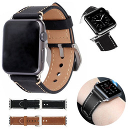 Smart Watches Straps Australia - Retro Leather Watch Band Loop For Apple Watch Band 38mm 42mm Smart Strap for iWatch Series 4 3 2 1 Vintage Replacement Bracelet