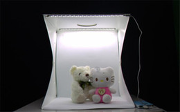 light diffuse Australia - Mini 20cm Folding Studio Diffuse Soft Box Lightbox With LED Light Black White Photography Background Photo Studio box