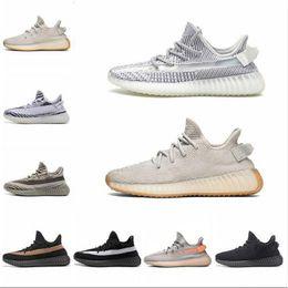 Blue frozen shoes online shopping - New shoes mens designer shoes designer sneakers Women Bred Semi Frozen Sesame Kanye West Running Shoes womens Cream white Zebra Sneakers