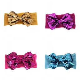 $enCountryForm.capitalKeyWord Australia - Lady Headband Mermaid Sequins Girl Hair Band Bow Kids Wonderful Pure Colour Ribbon Baby Christmas Gifts 2 5lt N1