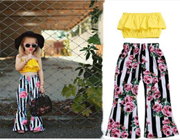 $enCountryForm.capitalKeyWord Australia - New Toddler Kids Baby Girl Clothes Summer Clothes Sleeveless Top + Floral Trousers Outfits Children Set Clothes