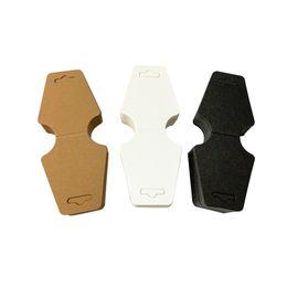 Venta al por mayor de Kraft collar de papel Tarjetas 5x12cm que cuelgan la joyería Etiquetas Tarjetas en blanco Collares Etiquetas para Viendo pulseras de la joyería y los pendientes
