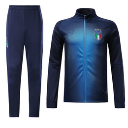 Discount italy suits - Top quality 2018 World Cup Italy soccer jacket tracksuit 18 19 long zipper training suit jacket