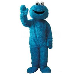 Blue Elmo UK - Halloween Sesame Street Elmo Mascot Costume Top Quality Cartoon red monster Anime theme character Christmas Carnival Party Costumes