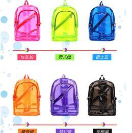 Laptop 15.6 inch china online shopping - 6 Color Jelly Transparent Backpack Desigenr Shoulder Bags Fashion Kanpsack Students School Backpack Unisex Besch Travel Bags Duffle Tote bag