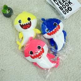 Discount new songs - Music Sound Baby Shark Plush Doll Soft Baby Cartoon Shark Stuffed & Plush Toys Singing English Song For Kids Gift Childr