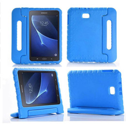 Foam case For tablet online shopping - Kids Children Shockproof Case Handle Stand Cover For Samsung Galaxy Tab A6 inch T580 T585 EVA Foam Tablet Protective Case
