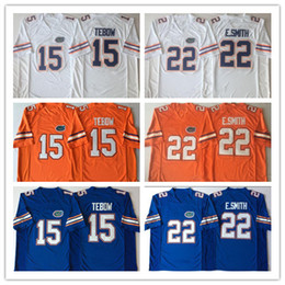 blue xxxl jersey Australia - Florida Gators Emmitt Smith NCAA 2019 New College Football blue orange white Stitched Any Name Number 15 Tim Tebow Jerseys