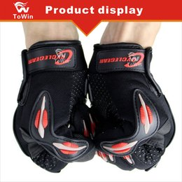 Bicycling Gear NZ - New Arrival Cycling Bicycle Motorcycle Bike Outdoors Sports Full Finger Protective Gear Racing Unisex Gloves Free Shipping Palm Protection