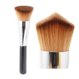 Flat Kabuki Makeup Brushes Australia - Flat Top Kabuki Brush Professional Face Makeup Brush Powder Foundation Blush Bronzer Primer Base Cosmetics Brushes Beauty Tool