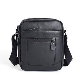 07f74449519f Сумка из натуральной кожи Мужская винтажная дизайнерская сумка через плечо  Фирменная сумка через плечо Деловая сумка (черный кофе)