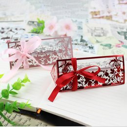 transparent gift wrapping paper Australia - Ins European Luxury Elegant Red Pink Flower Print PVC Transparent Diamond Plastic Box For Wedding Candy Gift Box For Party Favor