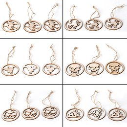 $enCountryForm.capitalKeyWord NZ - 2019 New 3PCS Halloween wooden round laser engraving hollow witch DIY ornaments home decoration Festive scene pendants