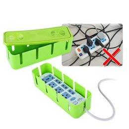 Wholesale Power Strip Cord Socket Storage Boxes Organizer Safety Socket Outlet Board Container Cables Electric Wire Case Accessories