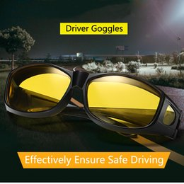 Discount pilots night glasses Wholesale-hot sale Sunglasses Night Vision Glasses Driving Yellow Lens Classic Anti-Glare Glass Hd High