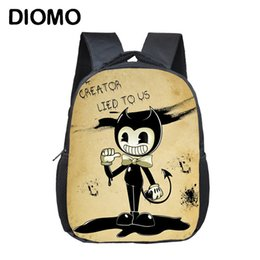 machine for boys NZ - Diomo Bendy And The Ink Machine School Bags Backpack For Children Girl Boy Infant Cartoon Kids Bag Satchel Toddler Schoolbags Y190530