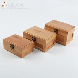 Bamboo Boxes NZ - Vintage Jewelry Storage Box Bamboo Organizer Case Sundries Storage Boxes Jewelry Box Household Gift Home Decoration