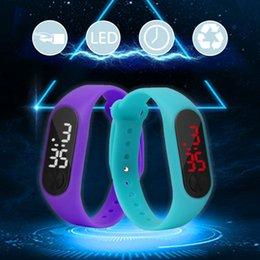 wrist candy watches Australia - Fashion Unisex Casual Sports Bracelet Watches White LED Electronic Digital Candy Color Silicone Wrist Watch Sport Bracelet Watch