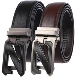 $enCountryForm.capitalKeyWord NZ - Fashion Belts for Men 2019 Genuine Leather Automatic Buckle Belts Business Formal Belt Designer Male Cowhide Strap Black Brown Men's Belt