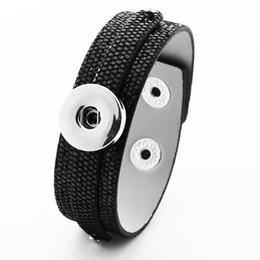 Cheap Bracelet Sets UK - Cheap Charm Bracelets New DIY 18mm PU leather snap button bracelets for girls students bracelet XH9601