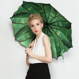 arts crafts adults NZ - Women Rain Umbrella Folding Female Umbrellas Sunscreen Woman Parasol Girl Elegant Anti-uv Art Umbrella Paraguas Gifts Wlfs-1 T8190619