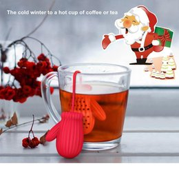 Christmas Gloves Tea Infuser Food Grade Silicone Glove Tea Strainer Herbal And Tea Filter Creative Christmas Gift