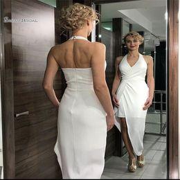 7e566128b50 AsymmetricAl chiffon prom dresses online shopping - 2019 Halter With V neck  Zipper High low Sleeveless