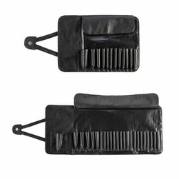 brush bag roll Australia - Professional 12 24 Slot Makeup Brush Holder Cosmetic Organizer Rolling Bag Case Container Pouch Bags