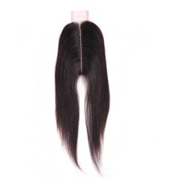 brazilian virgin hair texture UK - 9A Brazilian Virgin Hair Body Wave Straight 2*6 Lace Top Closure Middle part Natural Black Can be Dyed Lace closure
