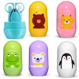 Wholesale Cartoon Baby Nail Care Grooming Practical Clipper Trimmer Convenient Daily Care Kits Scissor Kid Tools pieces Set