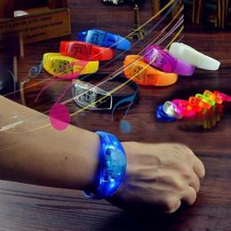$enCountryForm.capitalKeyWord Australia - wholesale 100pcs Voice Control LED Bracelet Sound Activated Glow Bracelet for Party Clubs Concerts Dancing Prom Decoration