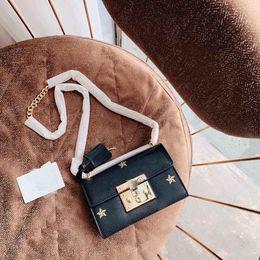 $enCountryForm.capitalKeyWord Australia - 2019 new brand ladies shoulder bag luxury fashion high quality lock bag stars hot stamping chain bag