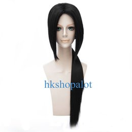 girl cosplay long black hair UK - Itachi Uchiha Long Black Cosplay Wig Tied Boy Male Halloween Carnival Full Hair